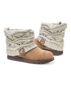 Too cute, I love #zulily! Ivory Patti Sweater Boot - Women by MUK LUKS #zulilyfinds