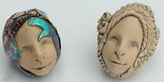 head beads made of polymer clay