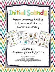 Phonemic Awareness - Initial Sounds Matching and Isolation Pack
