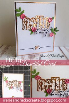 A Touch of Elegance # ireneandnickicrafts Hello Beautiful, Craft Kits, Irene, Studios, Canvas Art, Paper Crafts, Magazine, Touch, Projects