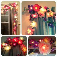 18 ideas diy home decor for apartments dollar stores string lights for 2019 Diy Art, Flower Lights, Strings, Home And Deco, String Lights, Twinkle Lights, Hanging Lights, Fairy Lights, My New Room
