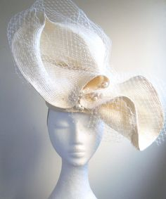 The Pearl, handmade sculptural headpiece by Natalilouise Millinery