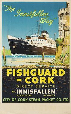 "Fishguard to Cork  - ""The Insfallen way"" - 1950's -"