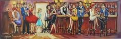 South African Contemporary and Upcoming Artist & Old Masters Art Gallery. Bar Scene, Upcoming Artists, South African Artists, Anton, Art Gallery, Passion, Oil, Contemporary, Pictures