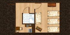 Struktura pokoju Apartamentu Miodowy XXI. http://apartamenty-florian.pl