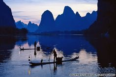 When the Chinese long for views of the nation's most scenic hills and rivers, they book a bamboo-boat cruise in Yangshuo.