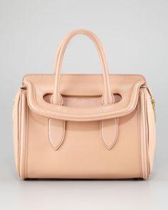 Blush Heroine Handbag by Alexander McQueen