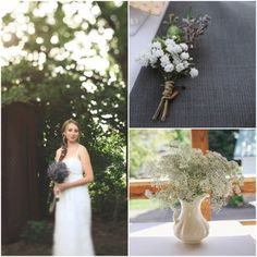 Babies Breath Bouquet - Chris & Rebekah - Sept. 15, 2012 at Ohio Barn B - posted on Rustic Wedding Chic
