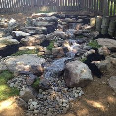 Pondless Waterfall, Natural Stone Steps, and Boulder Retaining Wall