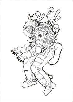 ink_the_cosmonaut.jpg (450×630) by Stuntkid (Jason Levesque) my fav. contemporary artist. Definitely would tattoo somewhere on me.