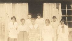 Eight young African American women outside a school building in Bibb County, Alabama ca. 1910-1915 Q8723