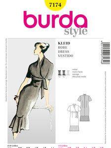 burda style: Damen - Festliche Mode - Abendkleider - Vintage Kleid, Empire-Linie