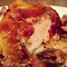 chicken smothered in smoked gouda, jalapenos and caramelized onions