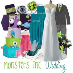 """""""Monsters Inc. Wedding"""" by jami1990 on Polyvore"""