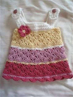 Crocheted girls jumper