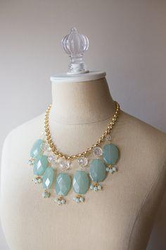 Mint & gold Statement Necklace