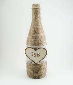 Customized Wedding Wine Bottles Rustic by MorningBugWeddings, $13.00