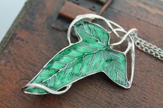 the Leaf necklace lord of the rings jewelry by uniquestyledo, $2.80