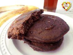 Pancakes cioccolato e banana Waffles, Pancakes, Crepes, Biscotti, Nutella, Healthy Recipes, Healthy Food, Banana, Favorite Recipes