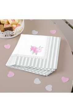 Pack 20 Frills & Spills  Napkins - Vintage Chic Party Decorations