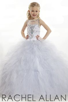 Rachel Allan Perfect Angel 1553 | Little Girl Pageant Dress ...