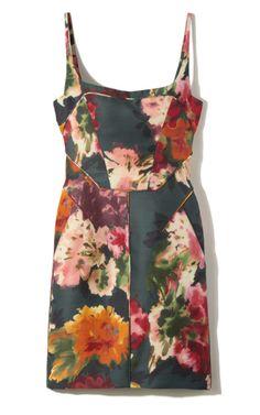 J.Mendel Sleeveless Floral Cocktail Dress