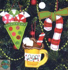 Felt Embroidery Kit ~ Dimensions Sweet Treats Christmas Ornaments #72-08185 | eBay