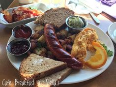 Happy Friday all! Today's #breakfast is with me myself and I at @mystellas - getting the fuel I need to be productive! This pic is a modified #CafeBreakfast. My awesome server suggested the locally made #chorizo and you know I still had to have my #bacon too! In addition to my #eggs and #hashbrowns I opted for #spelt toast. Unfortunately they were out of #avocado so I settled for #guacamole instead. It's great to sit near a window with my thoughts and put my plans in motion in this… Grubs, Chorizo, Happy Friday, Entrepreneurship, Guacamole, Nom Nom, Bacon, Avocado, Thats Not My