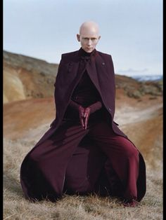 Tilda Swinton, editorial as Buddhist Monk, for W Magazine.