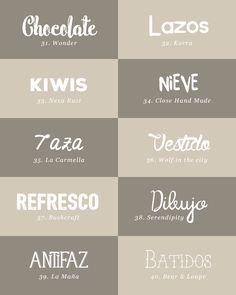 recursos molongos: 40 tipografías bonitas | milowcostblog