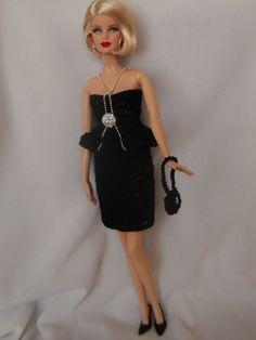 Barbie Style, Barbie Dress, Barbie Clothes, Mode Crochet, Barbie Accessories, Barbie And Ken, Doll Stuff, Crochet Fashion, Diva