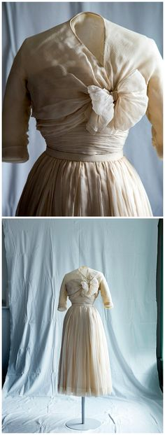 Evening ensemble, by the House of Dior, ca. 1952. National Gallery ...