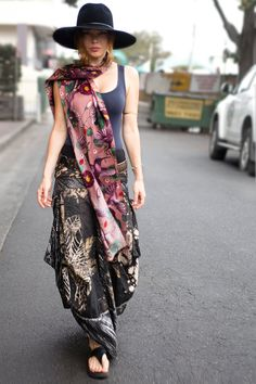 This incredible hand painted scarf is 100% silk and 100% luxurious. Embrace your earthy nature!