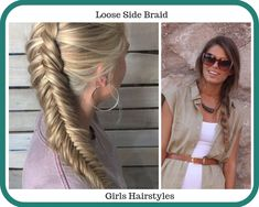 Top Girls Hairstyles - Adorable girls hairstyles are trending now because of the moms. Learn now about the top girls haistyles. Ponytail Girl, Half Ponytail, Twist Ponytail, Loose Side Braids, Side Ponytails, Girl Haircuts, Messy Hairstyles, Short Hair For Kids, Prom Hair Tutorial