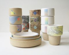 stackable mugs and nesting bowls available at Lifetime Collective - Little Mountain Workshop