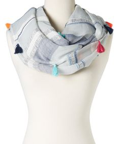 Look at this Betsey Johnson Blue Stripe Loop Infinity Scarf on #zulily today!