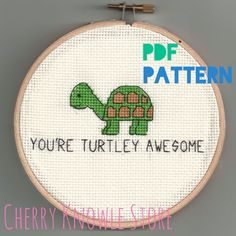 You're Turtley Awesome - Cross Stitch Pattern