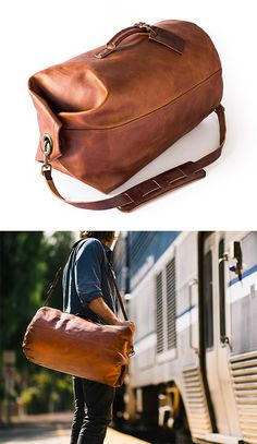 Military Duffle Bag #leather #travel
