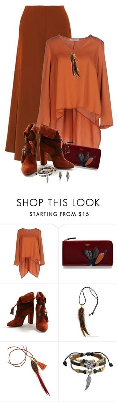 """""""Pumpkin Spice"""" by dkelley-0711 ❤ liked on Polyvore featuring Michela Mii, Mulberry, Aquazzura, Bling Jewelry, M&F Western, mulberry and pumkinspice"""