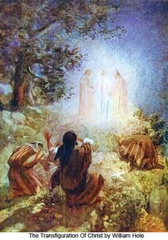 The story of the Transfiguration of Jesus on the mount is told in the  gospels of Matthew, Mark and Luke, and Peter refers to it in his Second  Epistle. Each time, it is made clear that that is not only the messenger  but also the message: God's salvation is for all and Christ is that  Saviour. The testimony of the law and the prophets to Jesus are given by  the presence of Moses and Elijah and the event also pre-figures the  resurrection, giving a foretaste of the life of glory.
