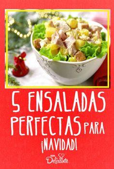 5 ensaladas perfectas para Navidad y… ¡no son de manzana! Top Recipes, Fall Recipes, Healthy Recipes, Appetizer Salads, Clean Diet, Eat The Rainbow, Buzzfeed Food, Food Is Fuel, Dinner Is Served