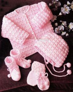 Instant Crochet Pattern Birth to 24 Months - Sweater 027283e87e4d
