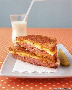 Apple, Ham, and Cheddar Melt Recipe | Martha Stewart