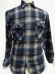 LUMBERJACK SHIRTS - Blue Plaid Design Lumberjack Shirt Size S. The campaign to dress like a homeless person continues.