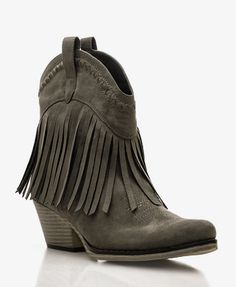 Fringe Western-Style Booties | FOREVER21