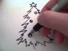 ▶ How to Draw a Cartoon Christmas Tree - YouTube
