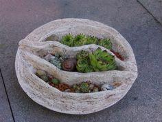 Gartendekoration - Hauswurzschale 5 - ein Designerstück von rote_libelle bei DaWanda