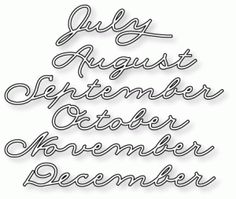 Papertrey Ink - Monthly Moments: Year Round 2 Die