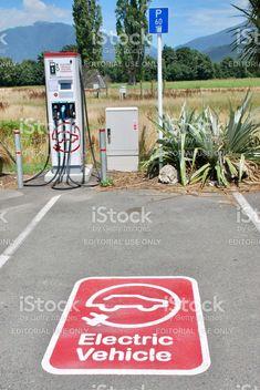 Electric Vehicle Charging Station, Takaka, Golden Bay, Tasman District, New Zealand royalty-free stock photo Electric Vehicle, Electric Cars, New Image, Editorial Photography, New Zealand, Royalty, Public, Neon Signs, Stock Photos