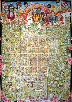 ちょっと昔の絵地図を楽しむ Kyoto Map, City Photo